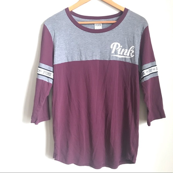 Pink VS Tee Long Sleeves size L